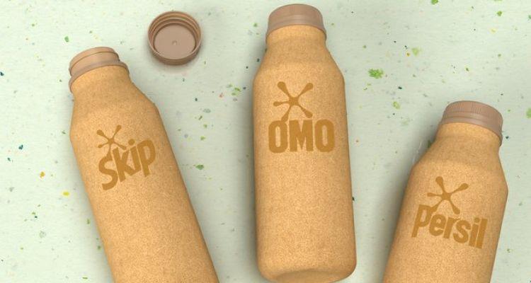 Unilever paper-based detergent bottles